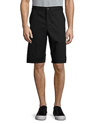 John Varvatos Solid Cotton Shorts Asphalt