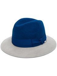 Woolrich Bow Detailed Two Tone Fedora Blue