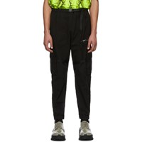 Off White Black Parachute Cargo Pants