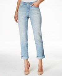 Styleandco. Style And Co. Petite Ripped Port Wash Cuffed Hem Jeans Only At Macy's