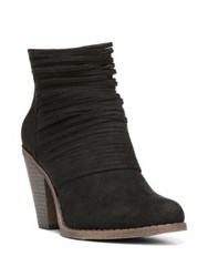 Fergalicious Wicket Strappy Oiled Fabric Booties Black