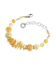 Antica Murrina Veneziana Liberty Light Gold Murano Glass Bracelet