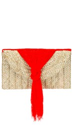 Nannacay Betula Clutch In Orange Tan. Dark Orange