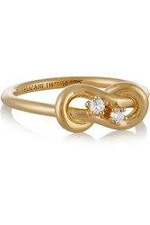 Elizabeth And James Catalan Gold Plated Quartz Ring 4