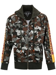 A La Garconne Camouflage Hoodie Cotton Brown