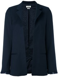 Zadig And Voltaire 'Volly' Fitted Jacket Blue