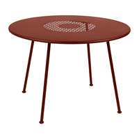 Fermob Lorette Garden Table Red Ochre