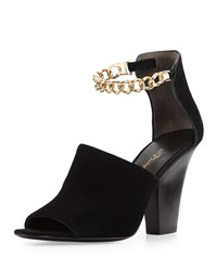 Phillip Lim 3.1 Berlin Ankle Chain Suede Sandal Black