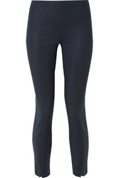 The Row Sorocco Cotton Blend Skinny Pants Navy