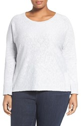 Eileen Fisher Plus Size Women's Organic Slub Knit Pullover India Sky