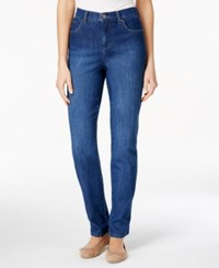 Styleandco. Style Co. Tummy Control Colored Wash Straight Leg Jeans Only At Macy's Aged Indigo