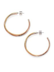 Michael Kors Tricolor Twisted Hoop Earrings 1.5 Multi
