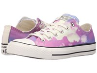 Converse Chuck Taylor All Star Sunset Ox Plastic Pink Spray Paint Blue Egret Women's Lace Up Casual Shoes Purple