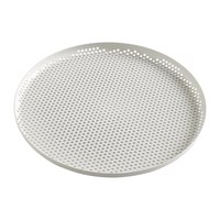 Hay Perforated Aluminium Tray Large Soft Grey