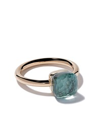 Pomellato 18Kt Rose Gold Small Nudo Light Blue Topaz Ring Unavailable