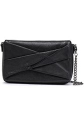 Halston Heritage Woman Layered Textured Leather Shoulder Bag Black