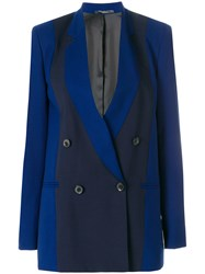 Paul Smith Double Breasted Colour Block Blazer Blue