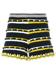 Barrie Striped Shorts Blue