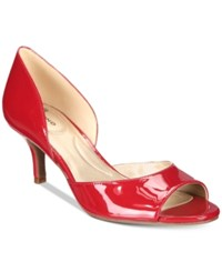 Bandolino Nubilla D'orsay Pumps Women's Shoes Red Patent