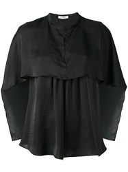 Christian Wijnants Cape Style Blouse Women Polyester 34 Black