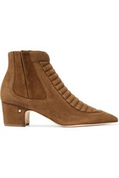 Laurence Dacade Sully Quilted Suede Ankle Boots Camel