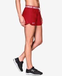 Under Armour Play Up Shorts Red Red
