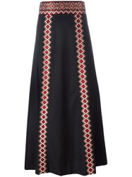 Vilshenko Embroidered Geometric Detailing Skirt Black