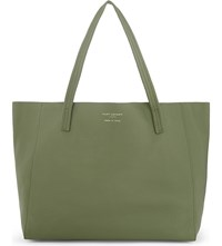 Kurt Geiger Violet Horizontal Leather Tote Khaki
