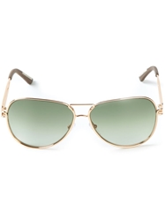 Roland Mouret Aviator Sunglasses Metallic