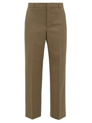 A.P.C. X Suzanne Koller Eva Twill Straight Leg Trousers Brown