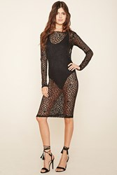 Forever 21 Sheer Lace Bodycon Dress