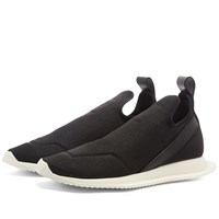 Rick Owens Drkshdw Stretch Coated Canvas Neo Runner Black