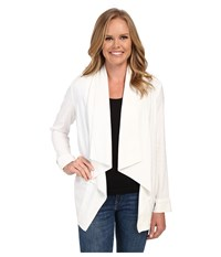 Nydj Stretch Linen Jacket Optic White Women's Jacket