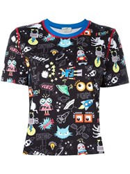 Fendi Monster Space Print T Shirt Black