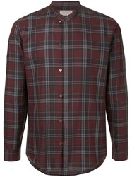 Cerruti 1881 Checked Print Shirt Red