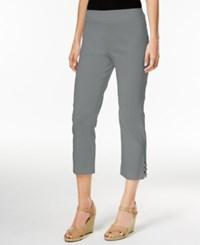 Jm Collection Lattice Hem Capri Pants Only At Macy's Shy Grey