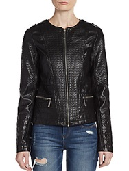 Joujou Quilted Sin Faux Leather Jacket Black