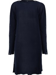 Masnada Button Seam Long Knitted Top Blue