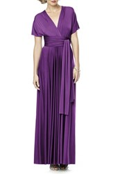 Dessy Collection Plus Size Women's Convertible Wrap Tie Surplice Jersey Gown African Violet
