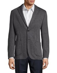 Black Brown Slim Fit Heathered Sportcoat Grey