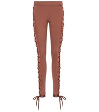 Fenty By Rihanna Boxing And Bomber Lace Up Leggings Brown