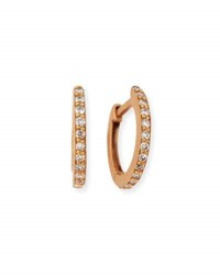 Dominique Cohen 18K Rose Gold And White Diamond Huggie Hoop Earrings