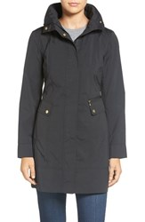 Cole Haan Signature Petite Women's Back Bow Packable Hooded Raincoat