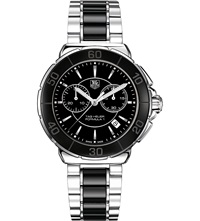 Tag Heuer Formula 1 Steel And Ceramic Chronograph Watch 41Mm Ceramic Black
