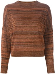 Erika Cavallini Semi Couture 'Bobbi' Sweater Yellow And Orange