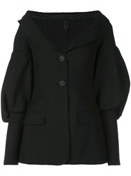 Vera Wang Puff Sleeve Jacket Black