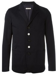 Marni Notched Lapel Jacket Blue