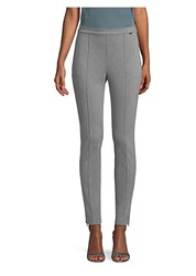 St. John Stretch Denim Pull On Leggings Grey Melange