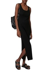 Women's Topshop Rib Knit Side Slit Maxi Dress