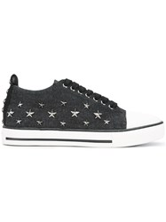 Red Valentino Star Studded Sneakers Black